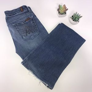 4308 7FAM  Pocket Whiskered Boot Cut Jeans 26